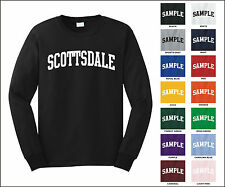City of Scottsdale College Letter Long Sleeve Jersey T-shirt