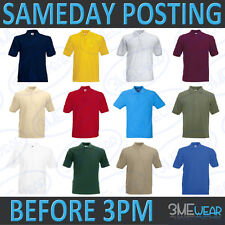 FOTL POLO SHIRT. 100% COTTON, PLAIN BLANK, BULK PACK PREMIUM PIQUE QUALITY 63202