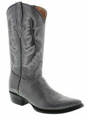 Men's gray leather crocodile alligator belly cowboy boots western rodeo exotic