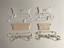 """1 x METRE PROFESSIONAL 3.5"""" OR 5"""" VERTICAL BLIND BOTTOM CHAIN PARTS / SPARES"""