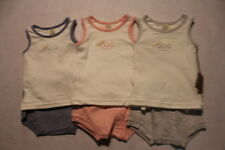 Baby Girl & Boy Size 0000,000,00,0 Olliboo Summer Pink, Blue Or Grey Outfit NWT