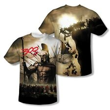 300 Movie Poster Spartans Attack 2-Sided Sublimation Print Poly Shirt S-3XL