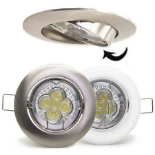 50X 5W 10W LED Recessed tilt Ceiling down spot light Downlight Kit GU10 dimmable