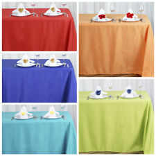 """10 90"""" x 156"""" Polyester Tablecloths Wedding Party Wholesale Table Linens Supply"""
