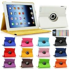 360 Rotating PU Leather Case Smart Cover W/Stand For The iPad 4 4G 3 3rd 2 Gen