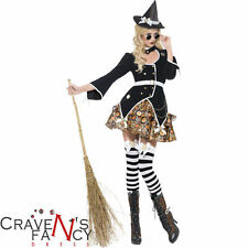 Ladies Sexy Witch Costume Steam Punk Victorian Fancy Dress Halloween Steampunk