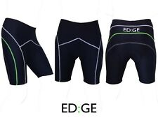 ED:GE Men Quick Dry Padded Black Green Cycling Cycle Lycra Compression Shorts