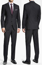 NWT Hugo Boss Black 2-button Trim Fit Tonal Stripe Luxurious Business Suit 40R