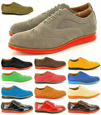 New Mens Casual Designer Lace Up Brogue Designer Shoes In UK Sizes 6 7 8 9 10 11
