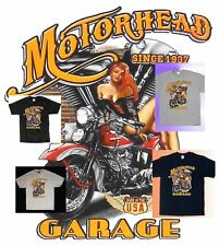 Since 1937 Rider T-Shirt Pan Head Motor Garage Harley Motorcycle Babe