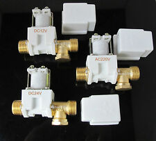 """Electric Solenoid Valve For Water Air DC12V/DC24V/AC220V 1/2"""" Normally Closed"""