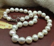 Free P&P 11-13mm real cultured freshwater pearl necklace