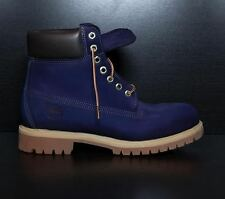 "SYCAMORE STYLE Custom Dyed Navy ""Bomber"" Blue Timberland Boots"