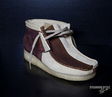 SYCAMORE STYLE Custom Dyed Brown Natural Sand Marble Cake Wallabee Clarks Boots