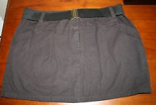 Just Add Sugar - Black Wash - charcoal drill skirt- ladies sizes 12 & 16 BNWT