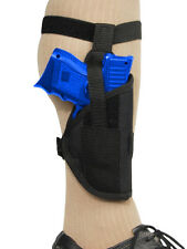Barsony Gun Concealment Ankle Holster for Kel-Tec, Sccy Compact 9mm 40 45