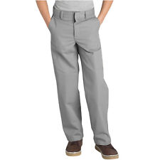 DICKIES BOYS SILVER SCHOOL PANTS FLAT FRONT 56562 Sizes 4 to 20