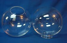 """10"""" Acrylic Round Clear Globe Light Fixture Outdoor 4"""" Neck No Post Pole New"""