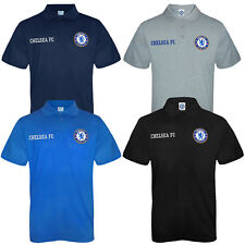 Chelsea FC Official Football Gift Mens Crest Polo Shirt