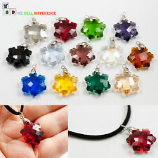 HANDMADE FASHION ❤ CRYSTAL SNOWFLAKE NECKLACE PENDANT WOMENS COSTUME JEWEL GIFT