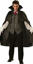 MENS ADULT MIDNIGHT VAMPIRE FANCY DRESS HALLOWEEN DRACULA COSTUME