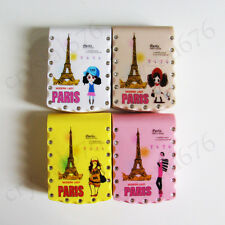 1set High Quality Lovely Paris Girl Contact Lens Case Travel Box With Mirror