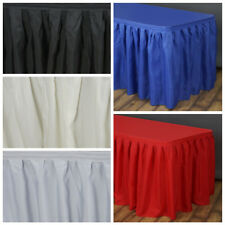 """17 feet x 29"""" Polyester Banquet Table Skirt Wedding Party Linens Wholesale"""