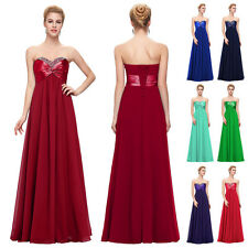 2013 Long Strapless Evening Formal Bridesmaid Wedding Ball Gown Prom Party Dress