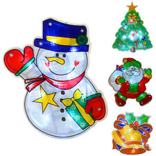 LED Light Up PVC Christmas Silhouette Window With Suction Cup Festive Decoration