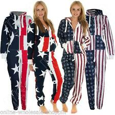 Mens Womens Ladies Unisex USA Stars & Stripes Flag Jumpsuit Onesie S M L XL XXL
