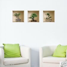 NEW SET 3 PCS WALL STICKER 3D ART MAGIC PICTURE REMOVABLE VINYL HOME DECOR DECAL