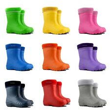 KIDS BOYS & GIRLS WELLINGTON BOOTS/ WELLIES / WINTER BOOTS/ EUR 22-35 / UK 5-2.5