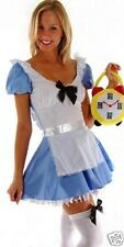 Alice in wonderland fancy dress costume dorothy party outfit 8-10 S