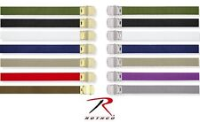 "Military Color Web Belts 44"" - 100& Cotton - Many Colors"