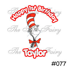 Cat in the Hat Birthday Girl Boy Personalized Shirt Name Age 1st 2nd 3rd 4th 5 6