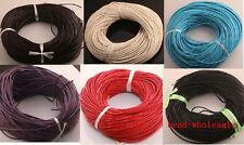 10M 100M Multicolor Real Leather String Thread Cord Rope 1mm 1.5mm 2mm 2.5mm 3mm