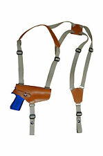 NEW Barsony Horizontal Tan Leather Shoulder Holster for Springfield Full Size