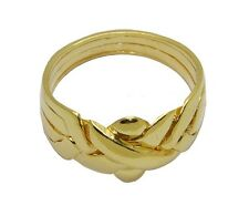 4-Band Puzzle Ring 18K Yellow Gold Over Sterling Silver (Sizes 5-11) #2571