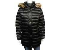 Utex Women's Down Sateen Quilted Coat with Detachable Faux Fur Hood NWT