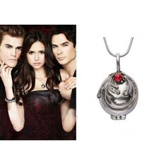 The Vampire Diaries Elena's Vervain Antique Silver/Gold Locket Pendant Necklace