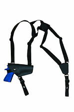 NEW Barsony Horizontal Black Leather Shoulder Holster CZ, EAA, FEG Full Size 9mm