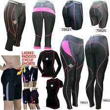 Ladies compression tights wear top cycling running base layer padded shorts