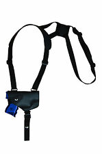 NEW Barsony Horizontal Black Leather Shoulder Holster Taurus Compact 9mm 40 45