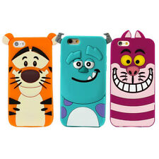 Cute Cartoon cat Sulley Soft Rubber Fitted Case cover for iphone 7 6 6S plus 5S