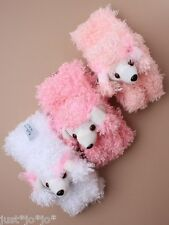 Girl's Teddy Bear or Poodle Scarf 3 Colours To Choose Fun Winter Warmer