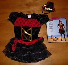 NIP Girls DAINTY PIRATE Buccaneer costume Dress Up Size 4/6 7/8 10/12 headpiece