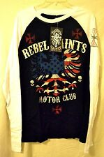 """Rebel Saints by AFFLICTION """"OLD GLORY"""" Long Sleeve Top Motor Club"""