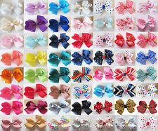 3'' Handmade Girls Hair Bows Bowknot Alligator Clips Barrettes Accessories