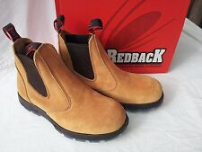 Redback Work Boots USBBA Steel Cap Toe Banana  Colour Suede Made in Australia