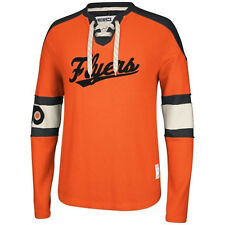 Philadelphia Flyers MENS CCM Vintage Crew Sweatshirt Pullover Orange NWT